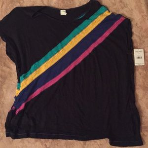 Free people black loose fitting shirt medium nwt